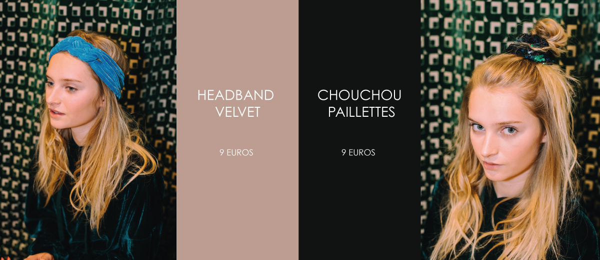 headband velvet et chouchou paillettes dream hair jaguar shoes
