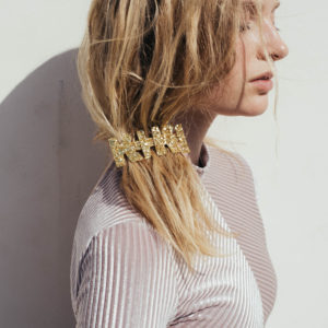 barrette KIKI paillette blonde ponytail