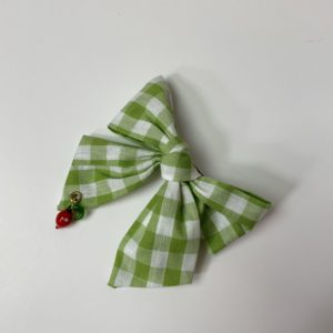 barrette vichy green