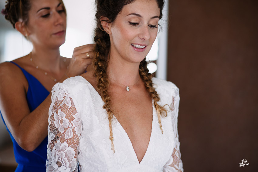 tresses africaines et chainage doree a l'or fin mariage seignosse landes hairstyle braids for wedding south west