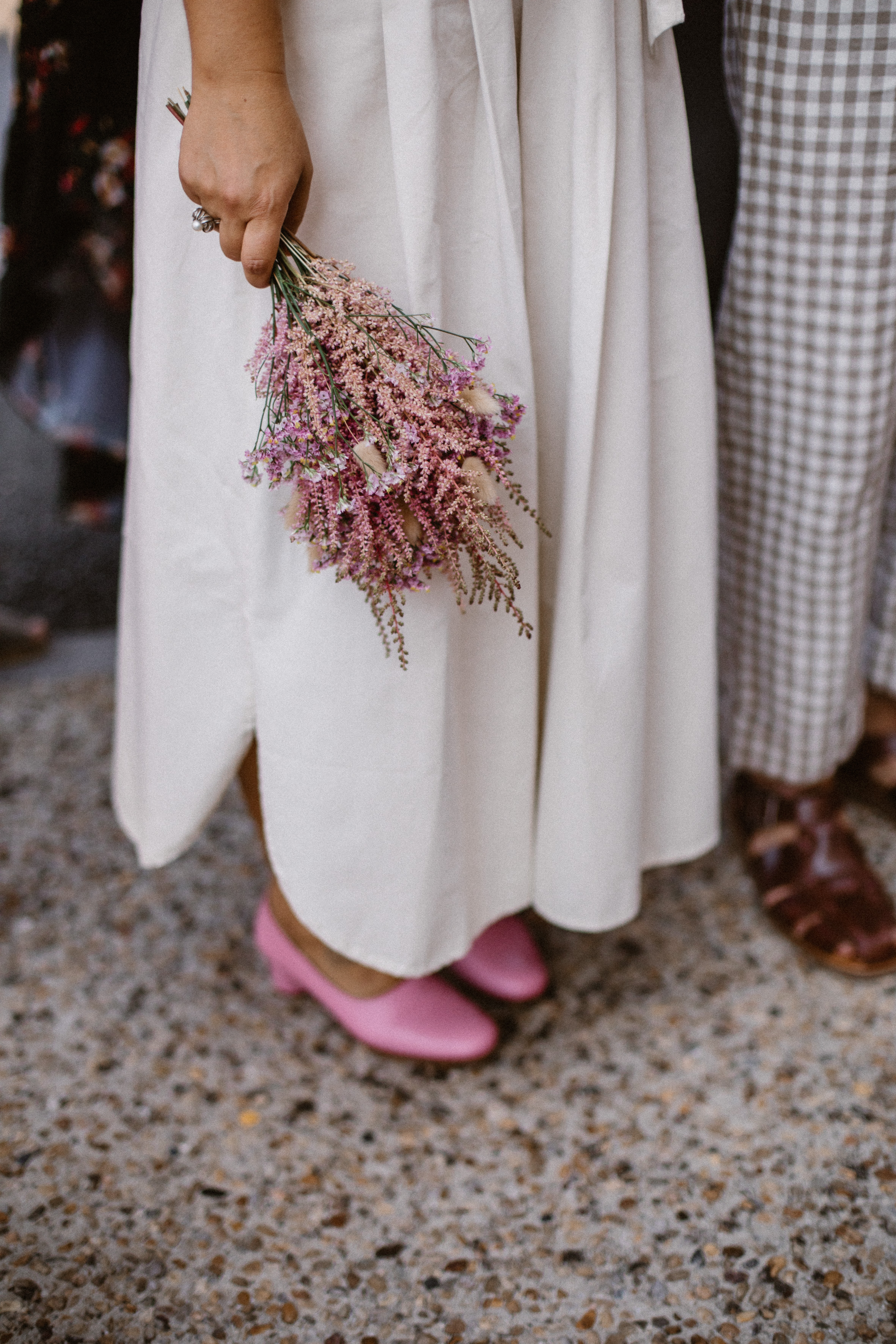 cute bride bouquet fleurs sechees
