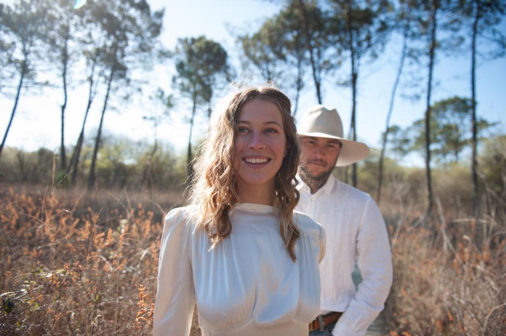 mariage en French California au milieu des Pins des Landes