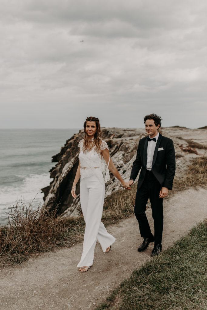 mariage à Biarritz, hairstyle folk et boho par eglantine reigniez